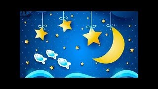 Lullaby for babies to go to sleep – 2 hours – lullaby brahms – stars and moon in background