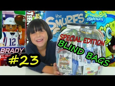 BLIND BAGS WEEKLY 23 - Oyo Sports Tom Brady Action Figure NFL Teeny Mates SpongeBob Minifigures