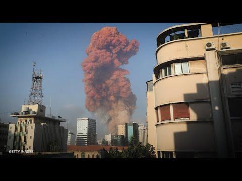 Huge Blasts Rocks Beirut