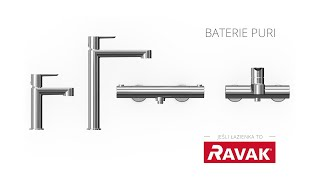 Baterie łazienkowe Puri - RAVAK