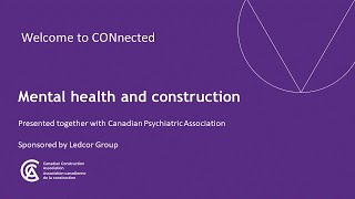 Mental health and construction during recovery