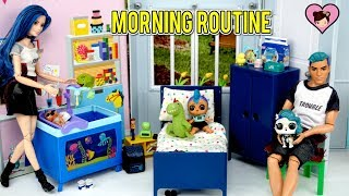 LOL Punk Boi Family Morning Routine  - Custom LOL Surprise Barbie Dolls