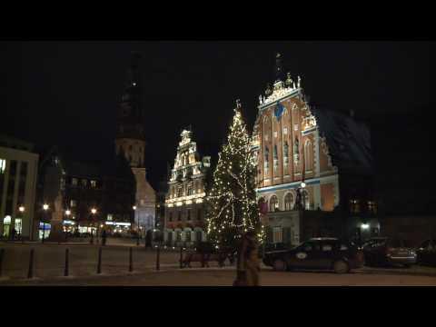 Rigas main Christmas tree