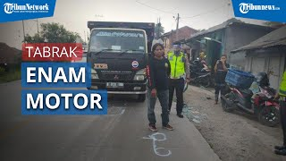 Truk Fuso Tabrak 6 Motor di Sukabumi, 1 Orang Tewas dan 4 Orang Luka luka