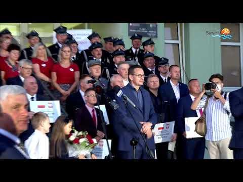 Kampania prezydencka. Premier Mateusz Morawiecki w Suwałkach
