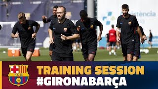 Recovery session after the match against Eibar