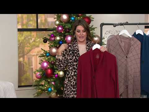 Cuddl Duds Comfortwear Drape Button Front Cardigan on QVC