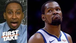 'No way' the Warriors win a title without Kevin Durant - Stephen A.   First Take