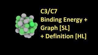 C3/C7 Binding Energy + Graph [SL] + Definition [HL IB Chemistry]