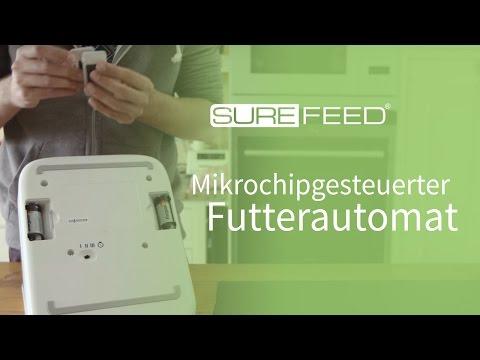 Auswechseln der Batterien an Ihrem SureFeed Mikrochip Futterautomaten