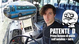 Guido Un Autobus Per La Prima Volta (Patente D Prima Lezione Scuola Guida)[Mitch Motor Vlog #9]