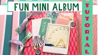 ADORABLE Mini Album Tutorial 💕★✧º Use 12x12 Single-sided Paper! | Rediscover Your Stash 2020