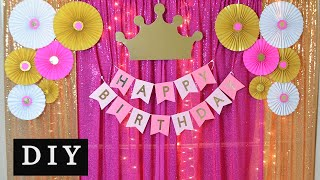 DIY- Princess Theme Birthday Party Decoration || Birthday Decoration Ideas At Home