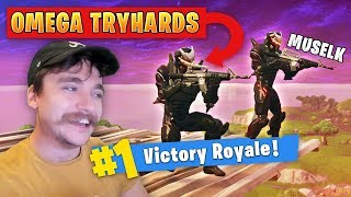 Muselk getting Carried again as Omega Tryhards - Fortnite Battle Royale