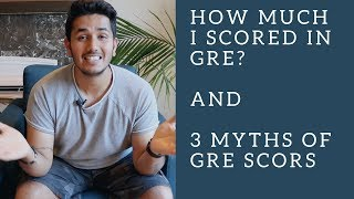 GRE Score | 3 Myths of GRE Scores | MS in USA | Yudi J