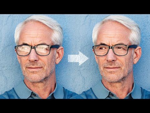 magically remove glare from glasses in adobe photoshop by piximperfect