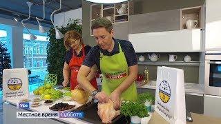 Известный телеведущий Рустэм Габбасов приготовил новогоднего гуся в прямом эфире