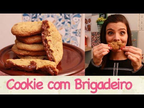 Cookie Recheado de Brigadeiro