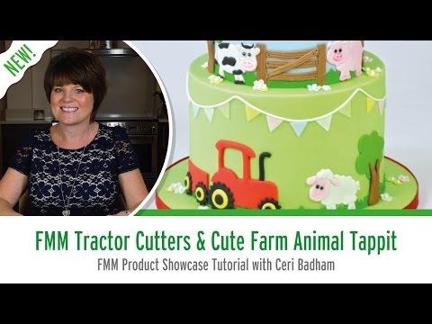 FMM Tractor Cutter Set & Cute Farm Animals Tappit