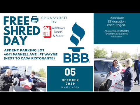 BBB's Free Shred Day