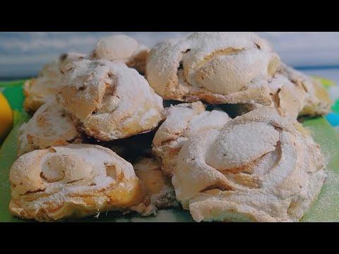 Печенье Рецепт на сметане с хрустящей корочкой из безе /Очень вкусное/  Meringue cookies
