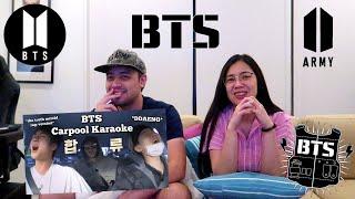 Vlog #190 | COUPLE REACTS TO #BTS Carpool Karaoke (by Fandoms Unite)
