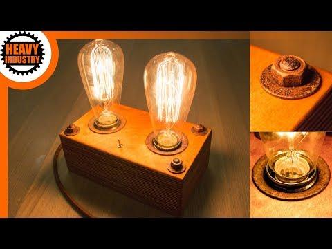 retro Edison Lampe selber bauen | Vintage & Steampunk Style | EXTRA: Metall verrosten lassen!