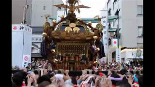 2017神田祭一番の見せ場、千貫神輿(旧神田市場)