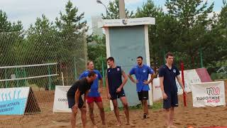 Тренировка по ОФП волейбольной команды Урал