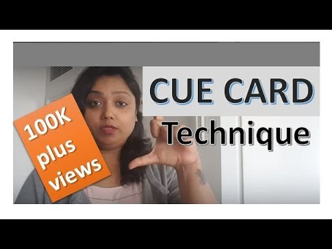 IELTS - CUE CARD - how to speak on a given topic - speech delivery
