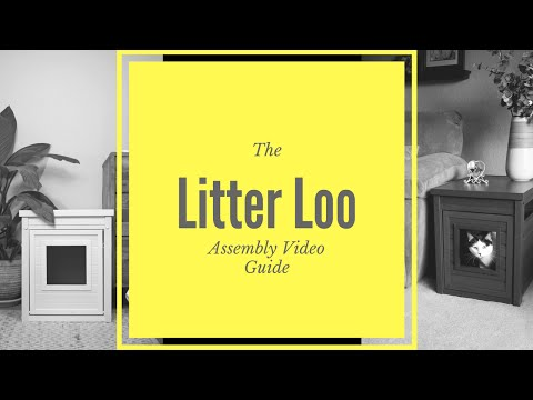 New Age Pet LitterLoo Litter Box Cover/End Table - Espresso Video