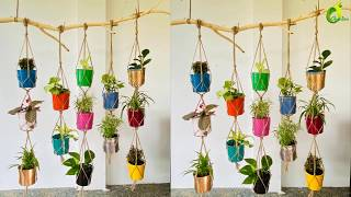 How To Make A Hanging Garden //Amazing Vertical  Hanging Garden/ORGANIC GARDEN