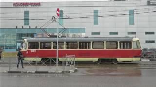 Вагон МТТЧ 3403 у метро Коломенская (маршрут 47)