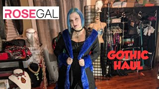 ROSEGAL Gothic Clothing Haul Goth On A Budget Dress And Coat 💜🦇💜