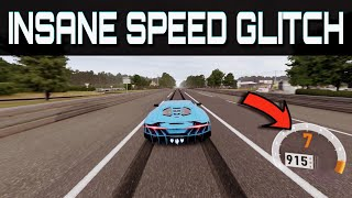 Driving over 900km/h !!   Forza Motorsport 7   Insane NEW Topspeed Glitch!!