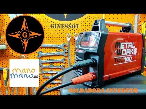 Soldadora Inverter MMA 160  MetalWorks TEC160  soldadura de arco, inverter welding machine,