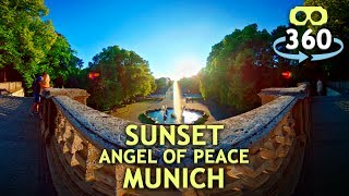 Timelapse Sunset Angel Of Peace Munich 360º 4K #VirtualReality #HDR #360Video #VR #360