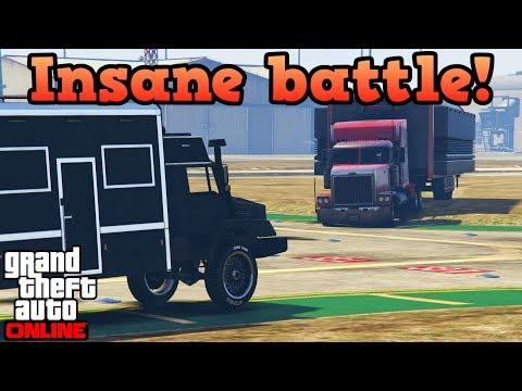 INSANE 4V4 Terrorbyte vs MOC battle! - GTA Online