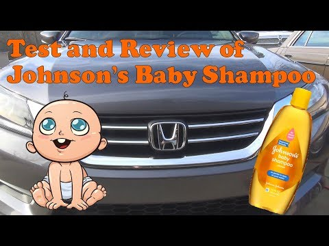 Test and review of Johnson's Baby Shampoo as a car soap