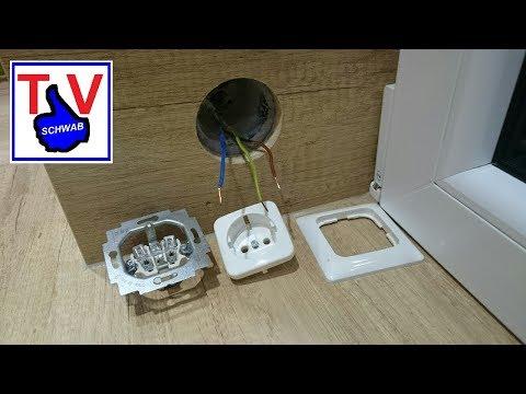 Steckdose anschließen 230V DIY Busch Jaeger Anleitung / electrical outlet installation tutorial UP