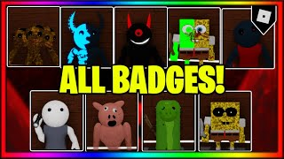 [NEW LOCATIONS] How To Get ALL 9 BADGES + SKINS/MORPHS In CUSTOM PIGGY SHOWCASE!! || Roblox