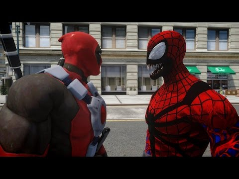 Deadpool vs Spiderman (Carnage) - EPIC BATTLE