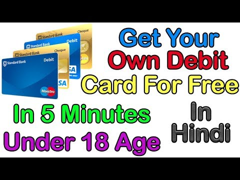 How to get Free Plastic Debit Card Under 18 Age In 5 Minutes Easily! || With Proof!
