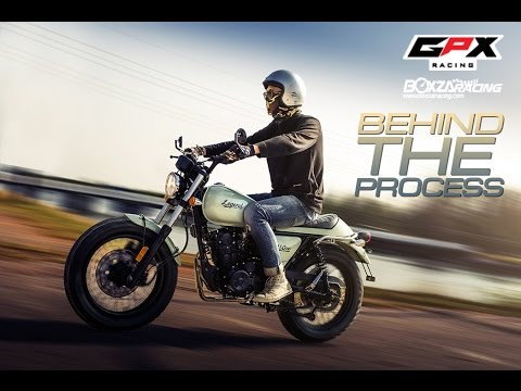 GPX Legend 150 cc. Behind the process.