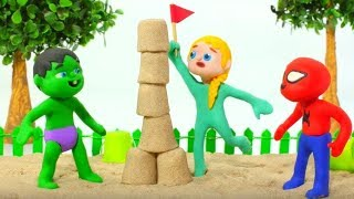 KIDS PLAYING WITH SAND ❤ PLAY DOH CARTOONS FOR KIDS