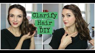 Squeaky Clean Hair! DIY Hair Clarifying Rinse
