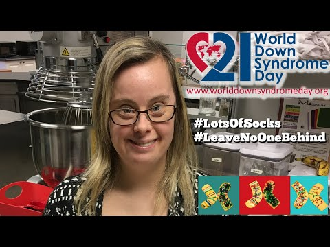 Watch video Sock Cookies for World Down Syndrome Day