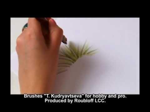 Мастер класс от Татьяны Кудрявцевой - техника «двойного мазка», травы и цветы
