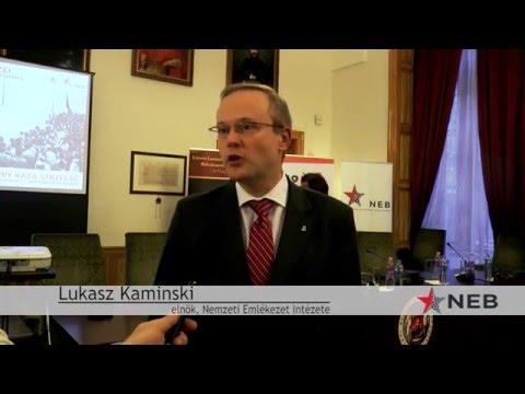 Interjú Lukasz Kaminskivel a Diktatúrák sortüzei...című konferencián