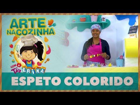 Espeto Colorido | Arte na Cozinha com a tia Érika